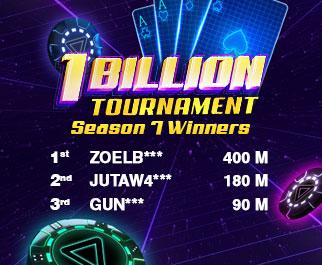 1 Billion Tournament Season 7 Winners